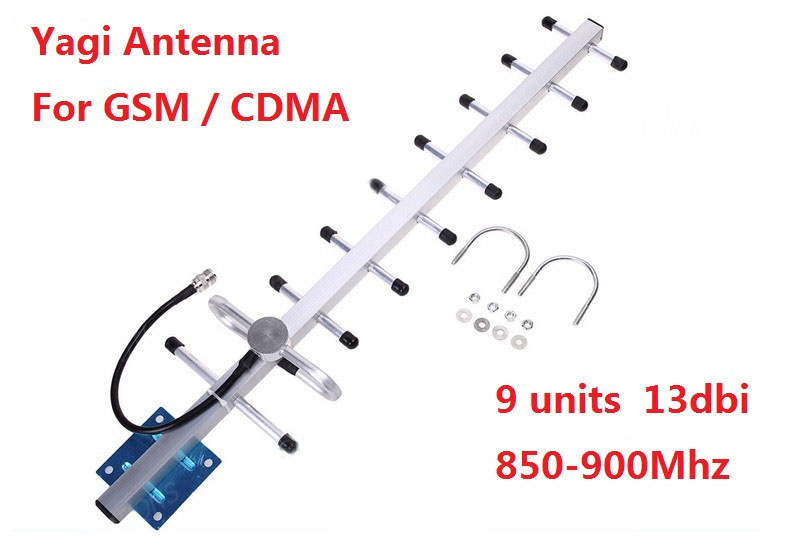 9 Units 13dbi Cell Phone Signal Antenna 824-960mhz 900mhz GSM CDMA Outdoor Yagi Antenna With N Female Connector