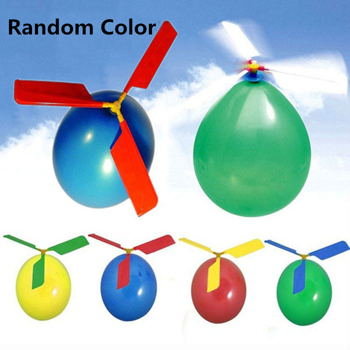 1 Set Balloon Airplane Toys Funny Aircraft Helicopter Flying Toy For Kids Children Random Color image