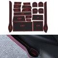 19Pcs/Set Car Styling Slot Pad Interior Door Groove Mat Latex Anti-Slip Cushion For Nissan X-Trail 2008-2012 Internal Dedicated