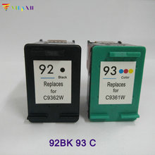 2PK Ink Cartridge for HP 92 93 For Photosmart C3180 C3100 7830 C3140 Deskjet 5440 C3175 PSC 1507 hp c3100 ink cartridge