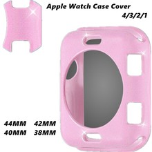 TPU Glitter Watch Case Cover For Apple Watch Series 4/3/2/1 Flash Protection Cover Colorful Case Bumper For Iwatch 38/40/42/44mm uebn fall resistance soft silicone case for apple watch iwatch series 4 3 2 1 cover frame full protection 38 42 40 44mm case
