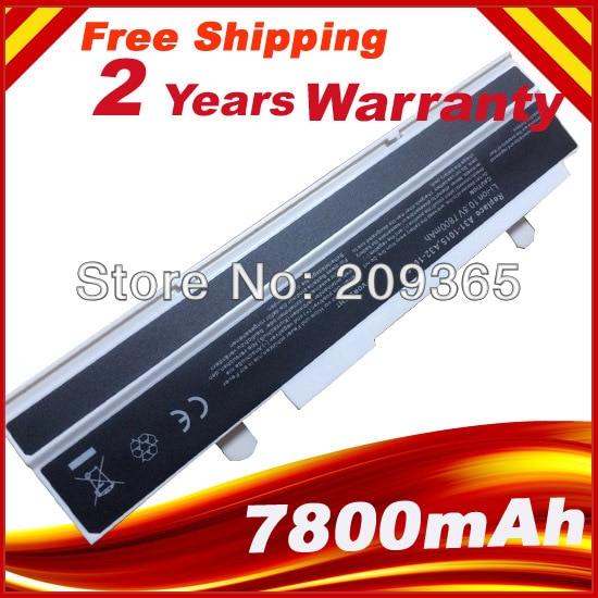 White 7800mAh 9 cells battery for Asus Eee PC 1015 1015B 1015BX 1015C 1015CX 1015P 1015PD 1015PE 1015PEB 1015PED 1015PEG 1015PN