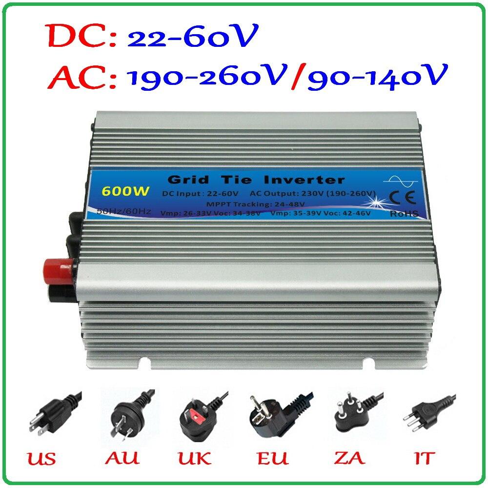 600 W Grid Tie Inverter Voor 30 V 60 Cellen En 36 V 72 Cellen Zonnepaneel, MPPT Functie Zuivere Sinus Micro Op Raster Stropdas Omvormer 600 W