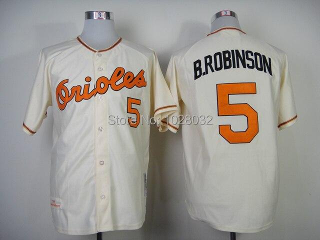 dfb15c0fa Baltimore Orioles Throwback Jersey 5 Brooks Robinson Jersey Jersey  WhiteOrangeCream ... White Brooks Robinson Authentic ...