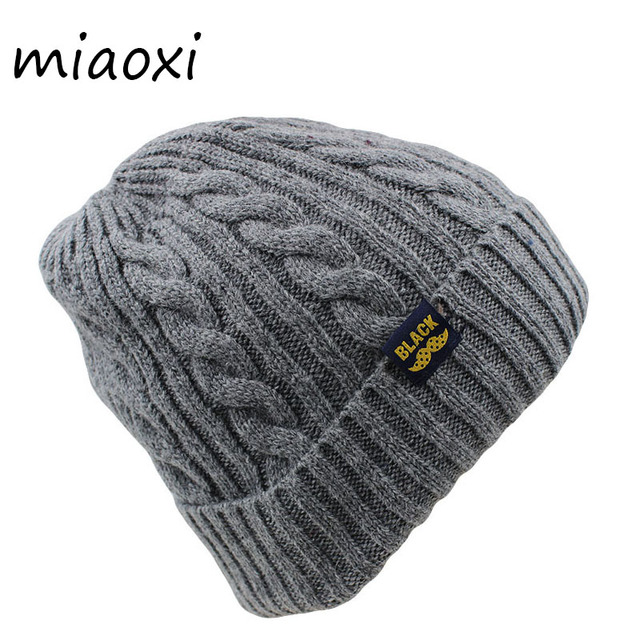 a6feee57d08e2 miaoxi Fashion Women Adult Wool Winter Snow Hat Caps Warm Black Hat Unisex  Beanies Skullies Casual Cap For Female Knit Bonnet