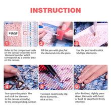 Huacan 5D DIY Diamond Painting Cartoon Full Square Rhinestone Mosaic Diamond Embroidery Cross-stitch Kits Cat Home Decoration