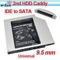 2013 Comercio Al Por Mayor 10/PCSUltrathin slim IDE a SATA de 9.5mm de Aluminio Universal segundo caddie hdd Para El Ordenador Portátil de la Serie