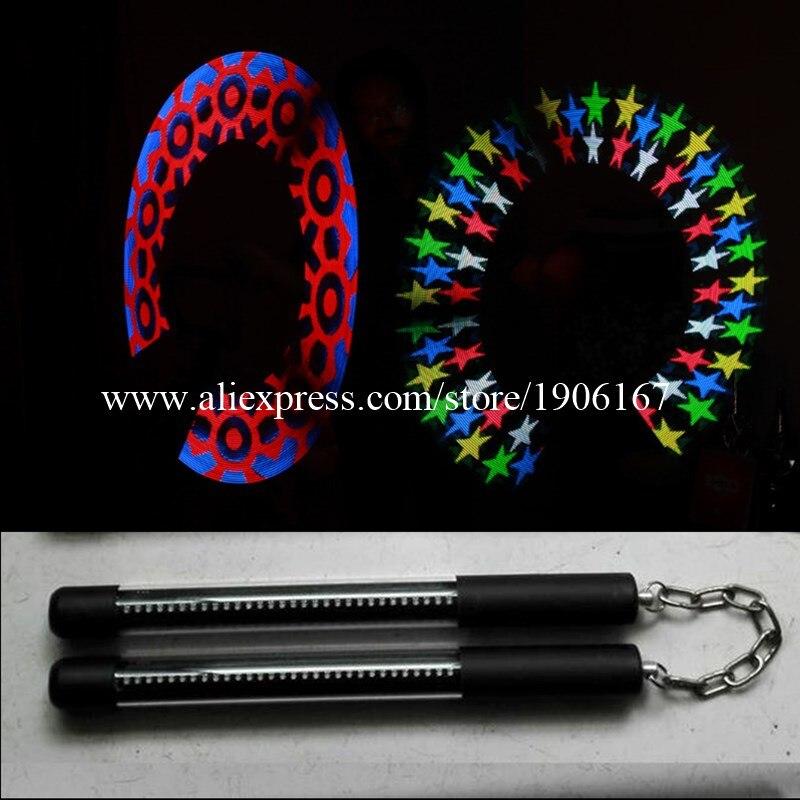 Full Color 30 Pixel Led POI Bastoni Magici Spettacoli LED Programmabile Nunchakus Per Party Stage Show