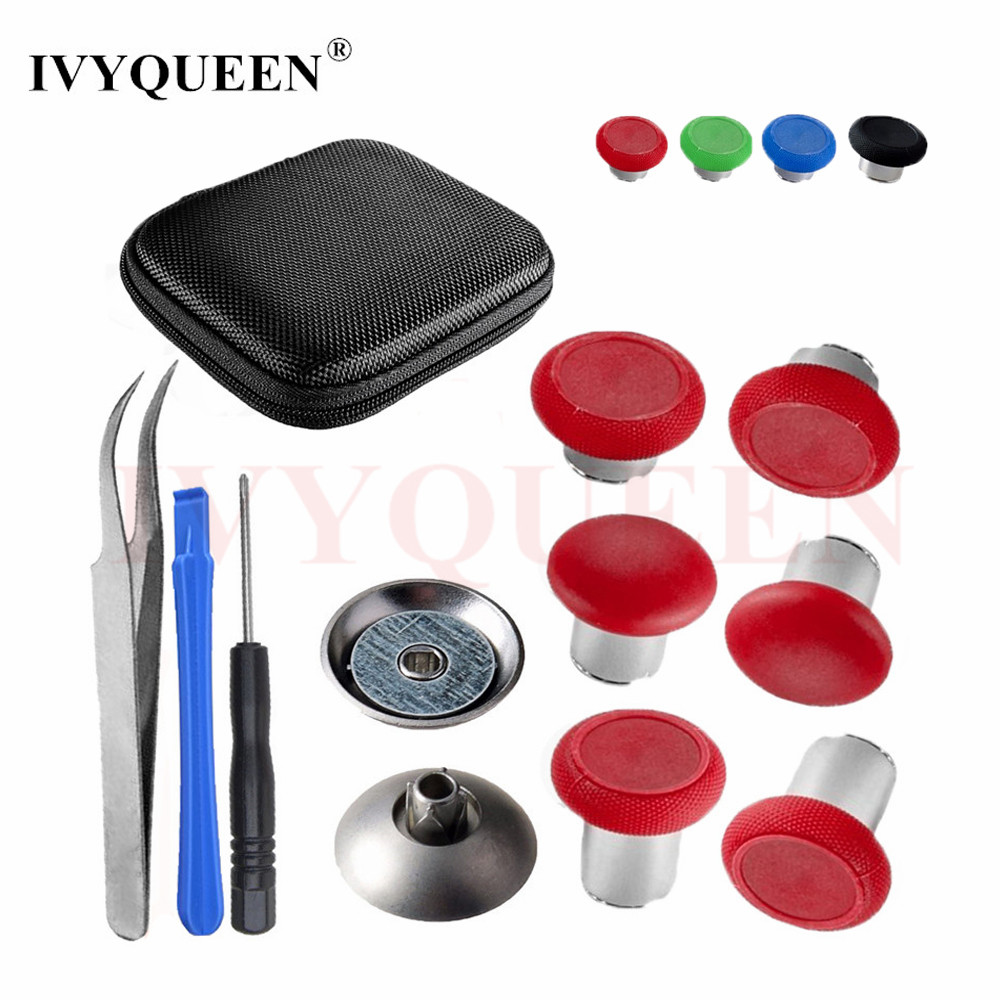 IVYUEEN Magnetic Analog Thumb Sticks Grips For Play Station 4 PS4 Pro Controller Swap Stick Caps For Dualshock 4 Slim Gamepad