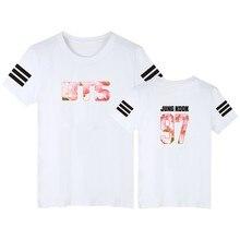 BTS Bunten Druckt-shirt Männer Kurzarm und Bangtan jungen Album Lustige T-shirt Fans in 4xl Baumwolle Tees Schwarz weiß