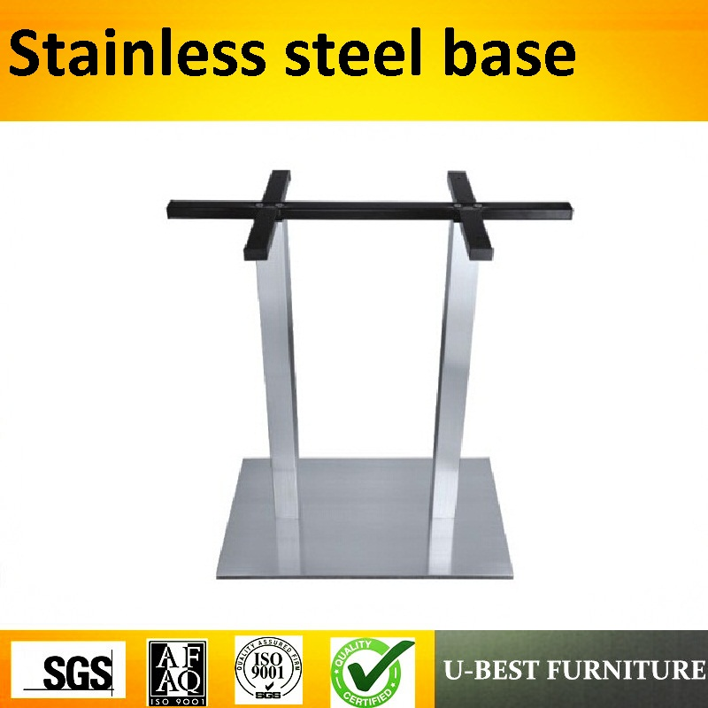 U-BEST Metal Coffee Table Legs Outdoor Furniture Dining Room Table Parts Square Stainless Steel Table Base