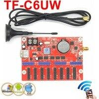 TF C6UW(TF WIFI C) Wireless WIFI+USB port LED control card 2048*64pixels single/dual/full color screen sign module drive board