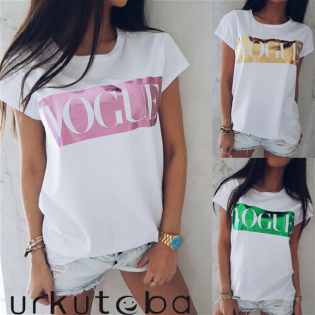 93243c5d8 2019 Brand New Fashion Women Girls Short Sleeve Printed T-shirt Casual  Cotton Tops Tee Shirt