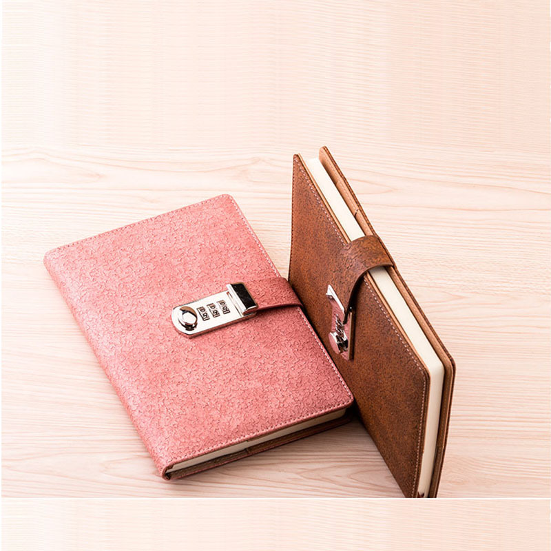 New Notebook paper Personal Diary with lock code 100 sheets Planner stationery Products notepad office school supplies недорого