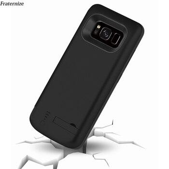 Тонкий ударопрочный чехол для зарядки аккумулятора 6500 мАч для samsung Galaxy S8 S9 Plus Note 8 Внешний перезаряжаемый внешний аккумулятор