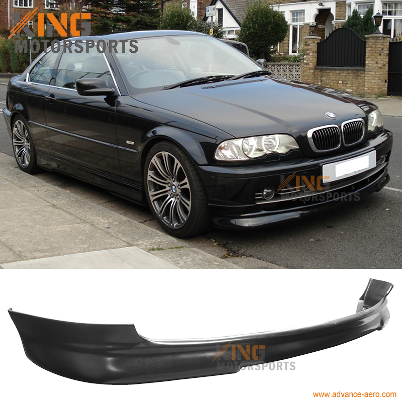 Fit For 1999 2000 2001 2002 2003 BMW E46 3-Series 2Dr Coupe PU Front Bumper Lip Spoiler Body Kit bmw 735 1999 г в спб