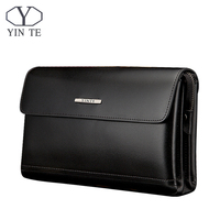 YINTE 2017 Men's Clutch Wallets Leather Men Big Bags High Quality Leather Men Business Clutch Bag Portfolio T8372 2
