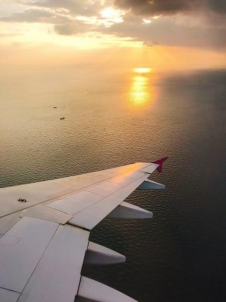 关西机场的降落