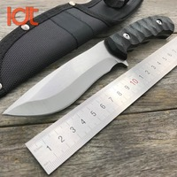 LDT Browning Little Hunting Fixed Knife 5CR13MOV Blade G10 Handle Tactical Survival Tool Outdoor Camping Knives