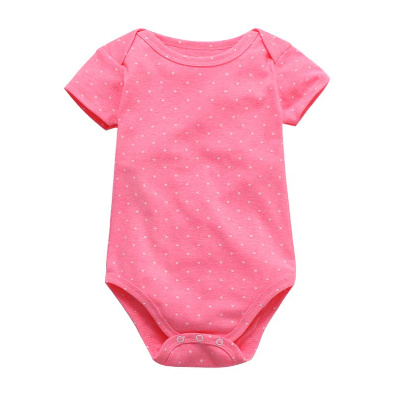 Tender Babies Baby Bodysuit Color Print Baby Boy Girl Short Sleeve Suit Baby Clothes Summer