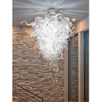 Splendid Crystal Blown Glass Ceiling Lightings White Bubbles Hotel Lamps
