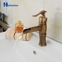 Antique Brass Bathroom Faucet Bath Toilet Retro Basin Faucet Single Handle Wash Basin Taps Lavatory Faucet AB 003