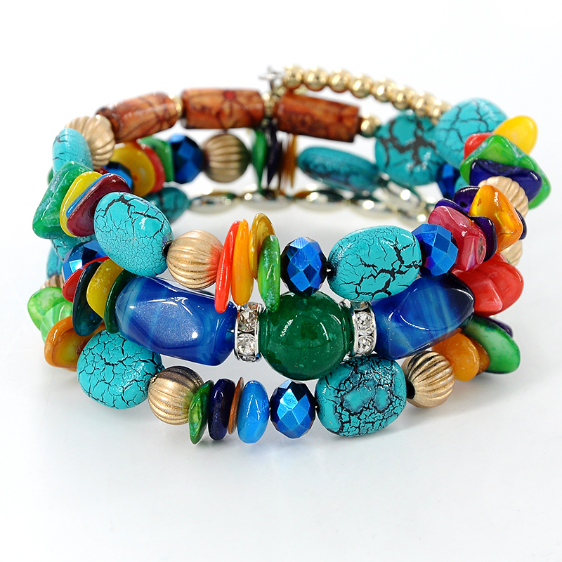 Brand Woman Boho Multilayer Beads Charm Bracelets
