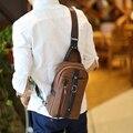 Homens de Negócios de moda Saco Peito Pacote de Moda Masculina Messenger Bags marca de Couro PU Um Ombro Sacos Crossbody Para Homens bolsos mujer
