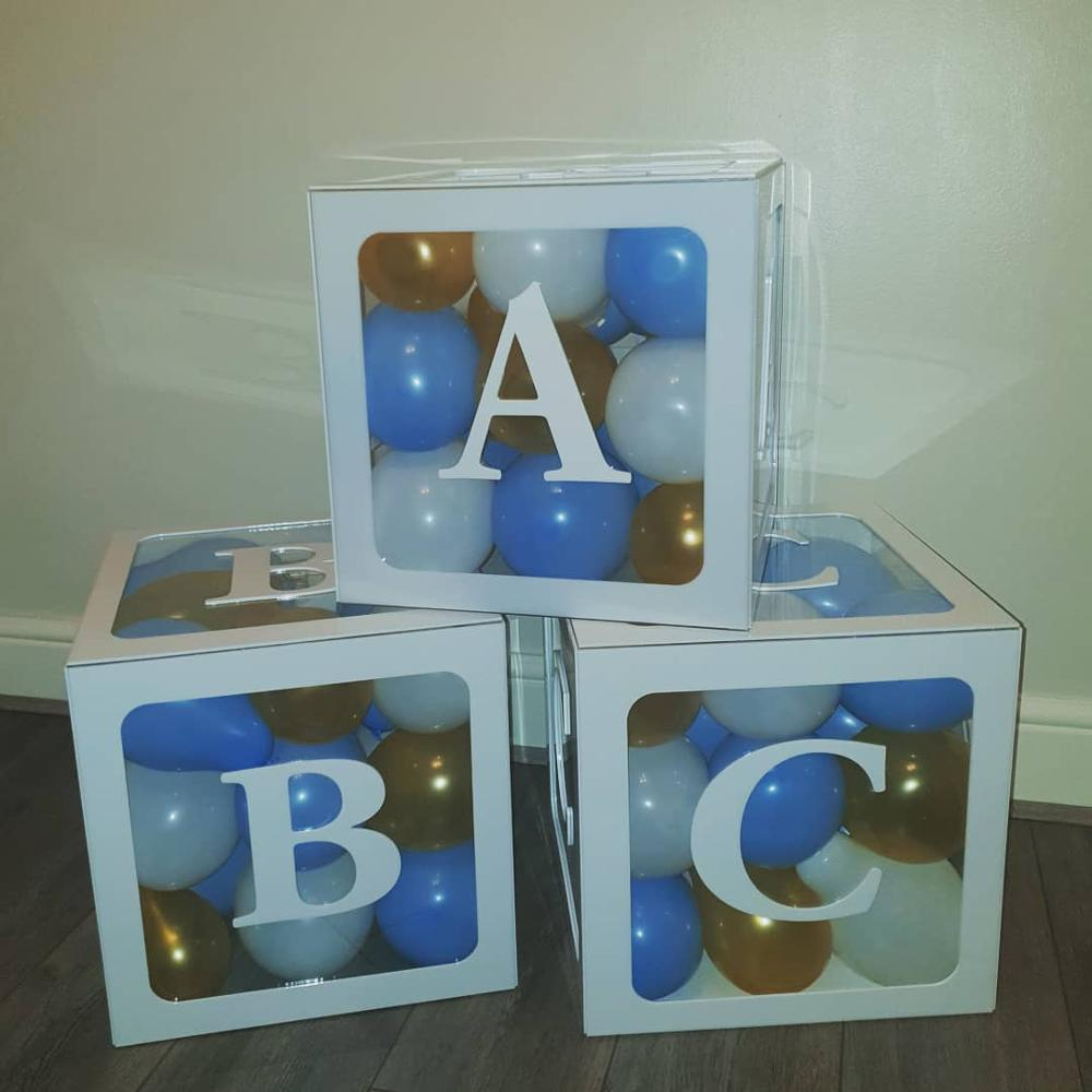 Acrylic Baby Shower Block Alphabet