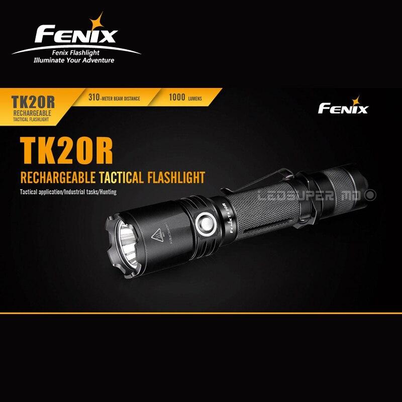 Original 2017 Fenix TK20R CREE XP-L HI V3 LED Rechargeable Tactical Flashlight with Free 18650 Battery 2017 liitokala 2pcs new protected for panasonic 18650 3400mah battery ncr18650b with original new pcb 3 7v