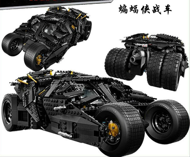 7111 1869pcs Super Hero Batman The Tumbler set Building Bricks Blocks Compatible with 07060 34005 76023 Toys lepin 1869pcs batman decool 7111 dc the tumbler joker model building blocks boys bricks toys superman compatible with lego