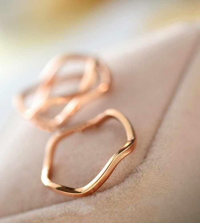 2019Latest Fashion Simple And Elegant Atmosphere Couples Joint Tail Ring Jewelry Factory Direct