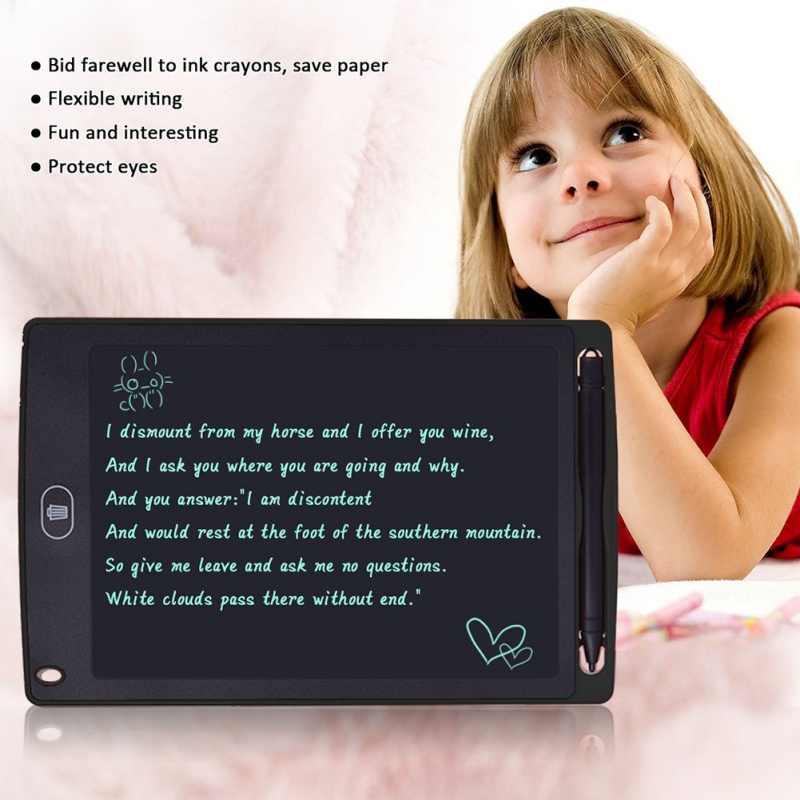 جديد 4.4/8.5 بوصة كمبيوتر لوحي LCD بشاشة للكتابة الرقمية لوح رسم بخط منصات المحمولة قرص الكتروني مجلس رقيقة جدا مجلس