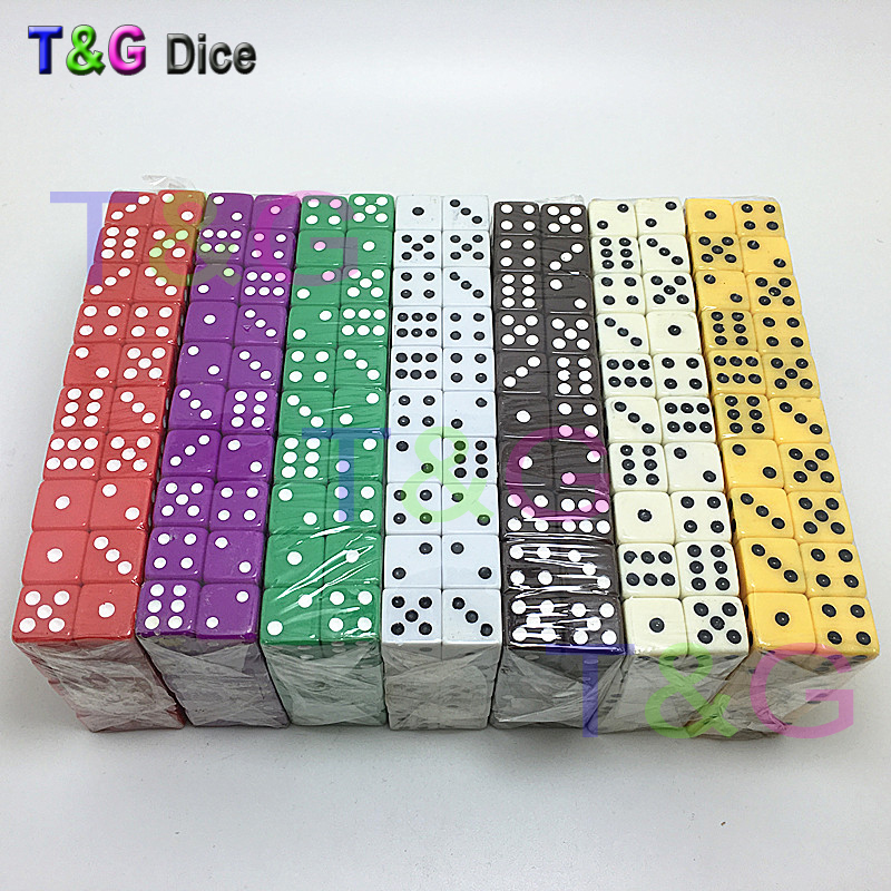10pcs Standard Plastic 12mm Game White Dice Die Toy New Outdoorliving,7 Colors