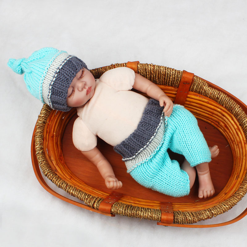 Adorable Newborn Photo Props Infant Crochet Beanie Hat and Pants Baby Knitted Costume Fotografia 0-3M H243