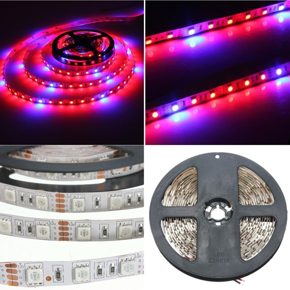 LED-växtväxelljus 5050 LED-remsa DC12V Rödblå 3: 1, 4: 1, 5: 1, - Professionell belysning - Foto 5
