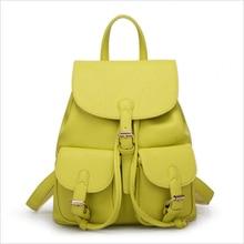Женские кожаные рюкзак шнурок летняя сумка для девочек-подростков на продажи ПУ школьные сумки Mochilas Mujer 2017 Женский backbag WH8167