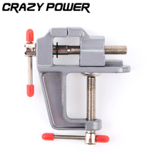 CRAZY POWER Aluminium Table Clamp with Mini Vise Mini Vice for Jewellers/hobbyists/Crafts/model building Tenwa Tools TA0007