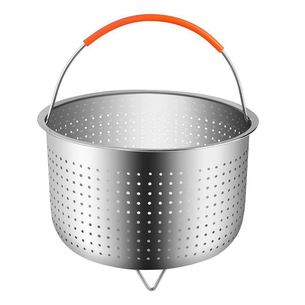 Stainless Steel Rice Cooking Steam Basket Pressure Cooker Anti-scald Steamer Fruit Cleaning Basket Vaporera Stoommandje