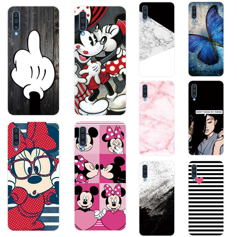 Mickey Minnie Case For Samsung Galaxy A50 Cases 6.4'' 2019 Fashion Back Case For Samsung A50 A 50 A505F Soft Silicone TPU Case