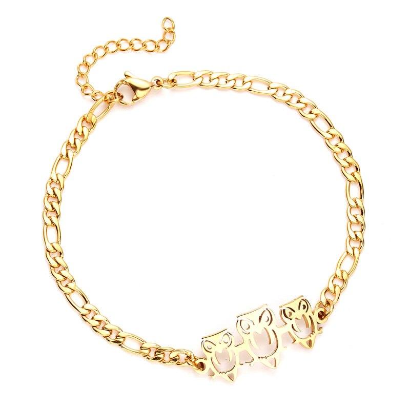 New Stainless Steel Animal Owl Elephant Bracelets Snowflake Women Adjustable Bracelets Bangle Valentine's Day Gift Stainless Bracelet 7