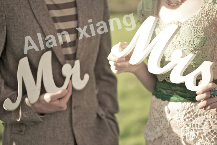 Free Shipping Mr And Mrs Signs Mr Mrs Letters For