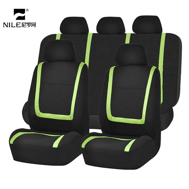 Nile 9PCS Universal Car Seat Cover With Colorful Line Design Auto Protect For