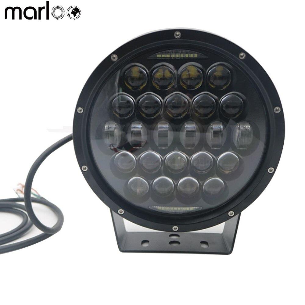 Marloo, 9 дюймов, 300 Вт, круглый светодиодный светильник для автомобиля, дальний и ближний свет, дальнего света, внедорожный грузовик, автомобиль