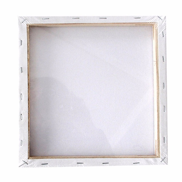 Small Art Board White Blank Square Artist Canvas Wooden Board Frame ...