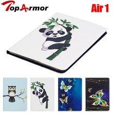 Toparmor чехол для Apple iPad Air Smart PU кожа силиконовый чехол подставка Flip дети Обложка для iPad 5 A1474 1475 1476