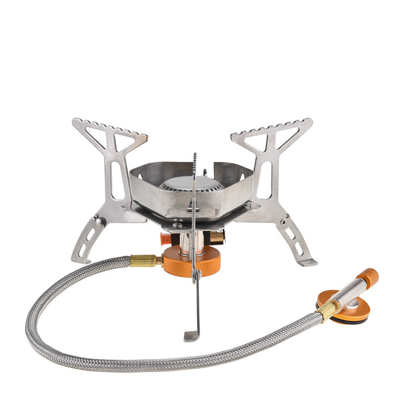 New Camping furnace Head Outdoor portable windproof gas fire Pot BBQ  propane stove burner folding butane heater