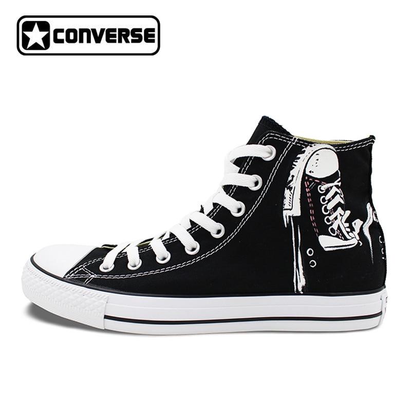 ̿̿̿(•̪ )Hommes Femmes Converse All Star Toile Chaussures ... ae5e24b5f3ce