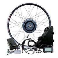 DIY 48V 500w Rear Hub Motor Ebike Conversion Kit Powerful 48V 20A Triangle Lithium Battery EBike Conversion Kit MTB Bicycle
