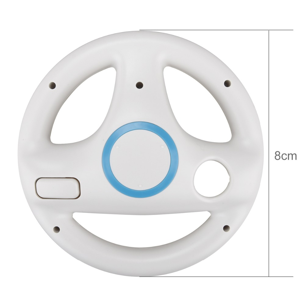 ONETOMAX 2pc Steering Kart Racing Wheel for Nintendo for Wii Remote Control Game Excite Truck Excitebike For wii console Racing